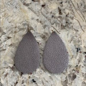 Nickel & Suede earrings